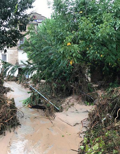 Després de la DANA DEL 12 de Setembre, el molí va estar greument afectat. En aquesta foto s'endinsem.