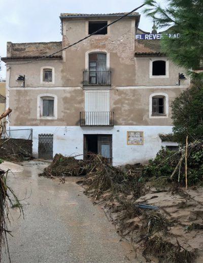 Després de la DANA DEL 12 de Setembre, el molí va estar greument afectat. En aquesta foto, hores després del pas de la DANA.