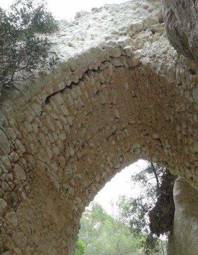 Un altra imatge de l'intradós. El temps també s'escola entre les seues pedres. De moment, el dany encara es pot reparar però esta treva no durarà per sempre. Algú li posarà remei?