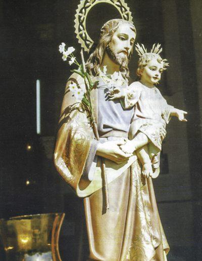 Sant Josep preparat per a la processó.